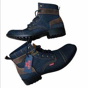 New Levi's Artesia Denim Boots NWT